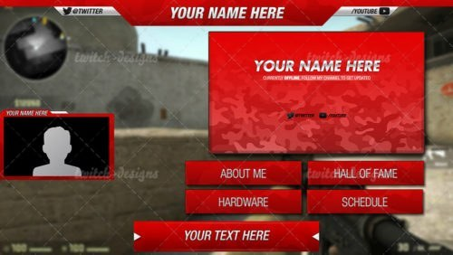 Preview Red Camo
