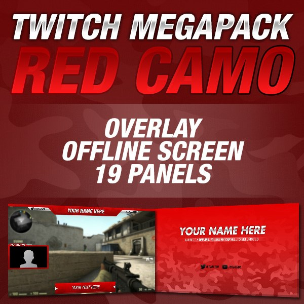 Megapack Red Camo