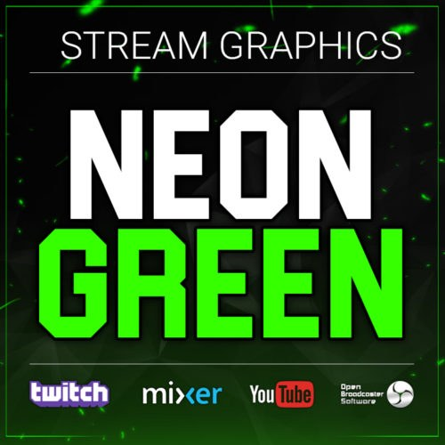 Neon Green Stream Graphics Bundle