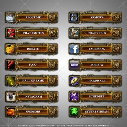 twitch panels world of warcraft english