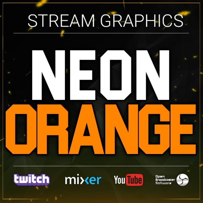 neon orange stream graphics