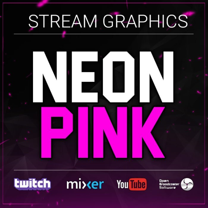 twitch graphics bundle neon pink