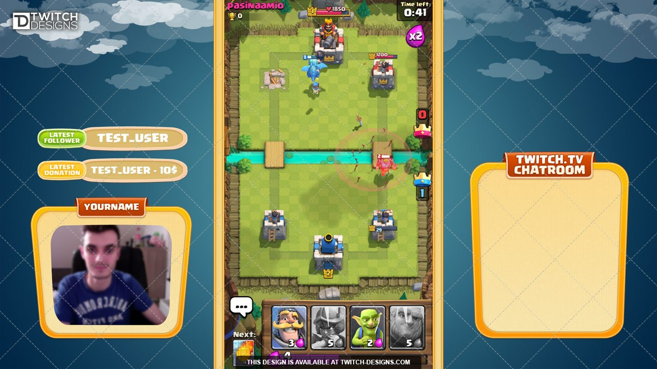 Clash Royale Overlay Twitch Designs