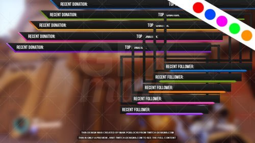 Twitch-Overlay-EasyFlat-Various-Colors