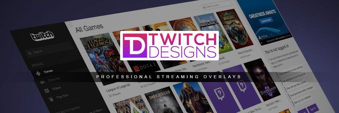 Twitch Overlays Website Header