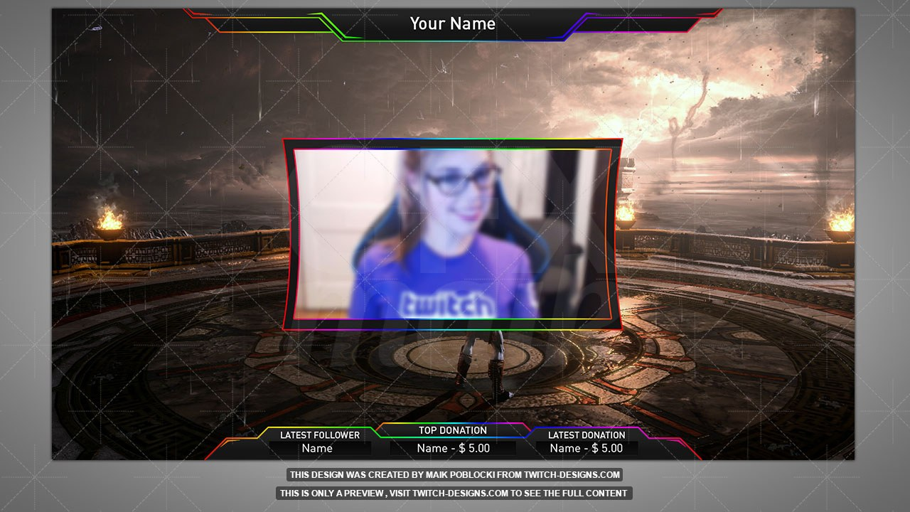 Animated Overlay - Twitch Designs