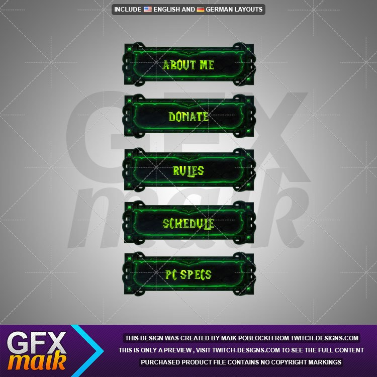 how to make panels for twitch