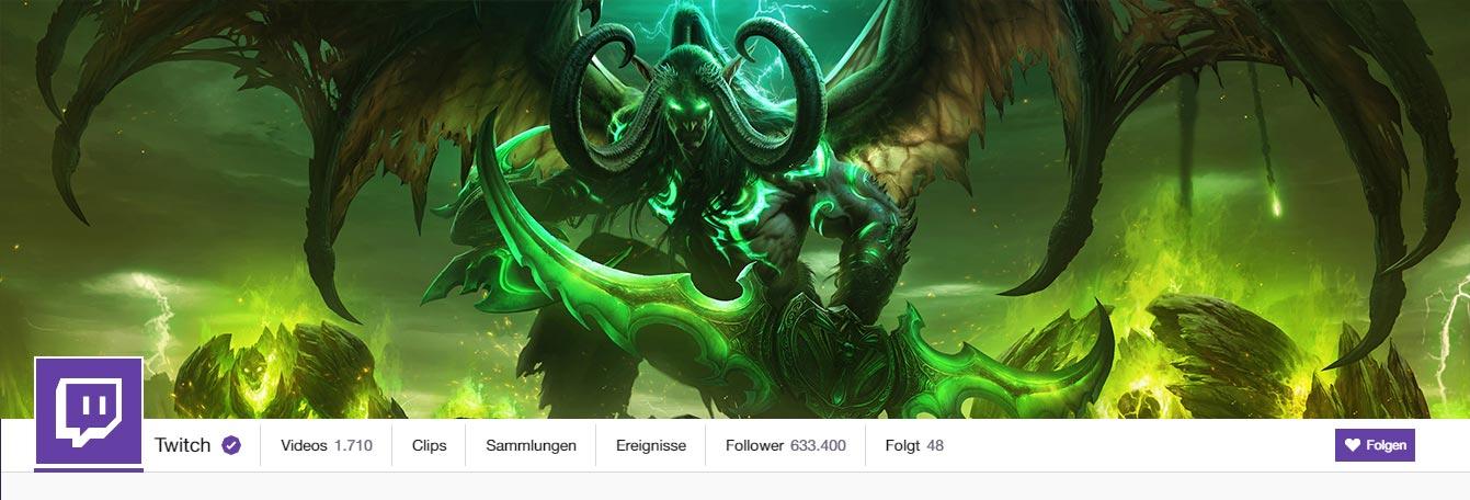 Twitch Banner World of Warcraft Legion