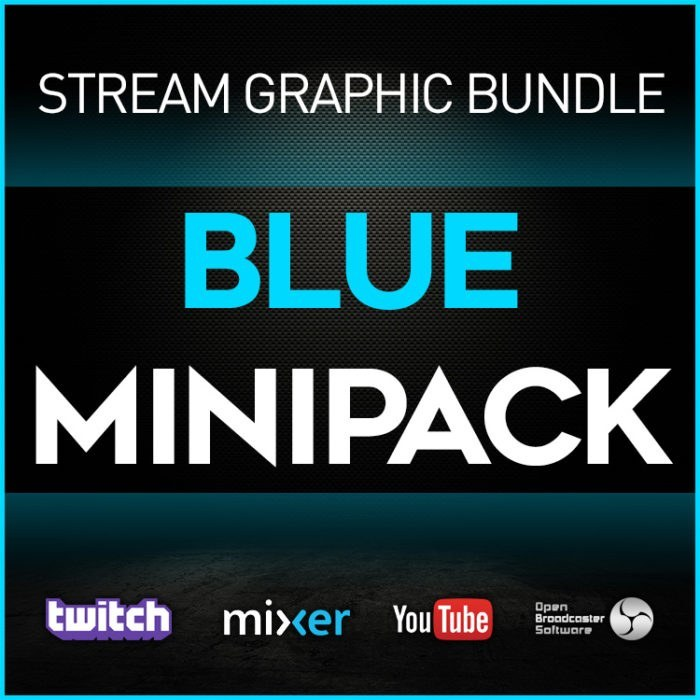 stream graphic bundle blue minipack