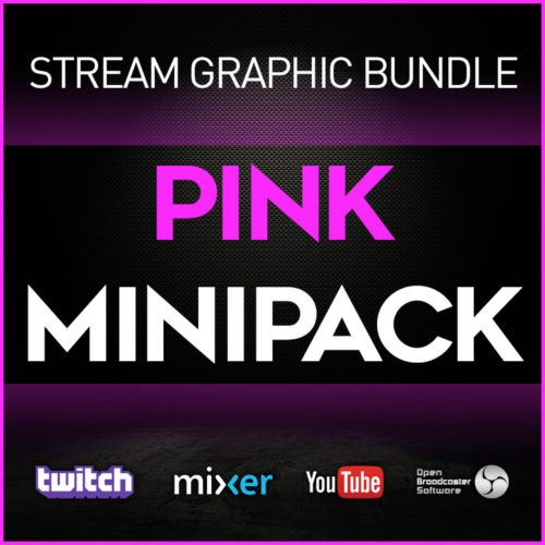 stream graphic bundle pink minipack