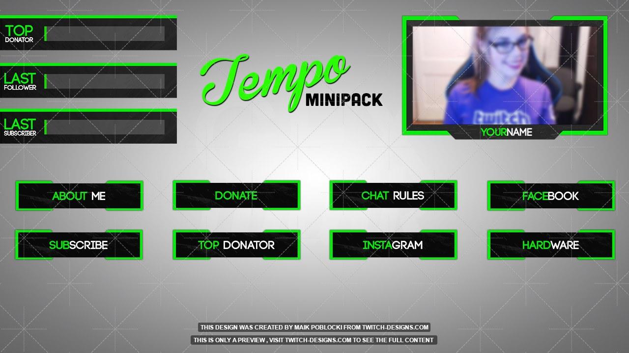 tempo minipack twitch designs. Black Bedroom Furniture Sets. Home Design Ideas