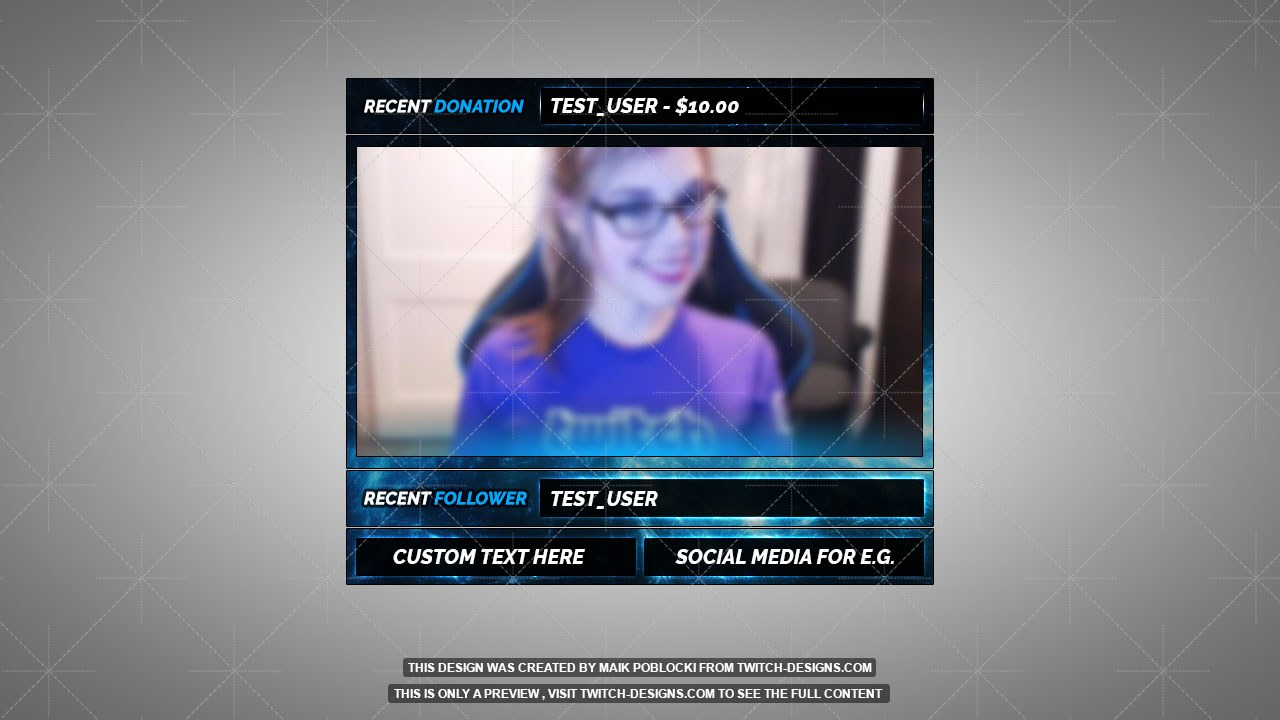 blue zero facecam overlay twitch designs