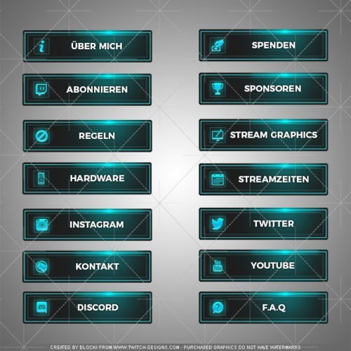 Twitch Panels Blue Motion Deutsch