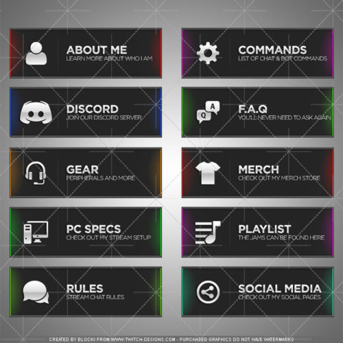 Chroma Panels Twitch English Template