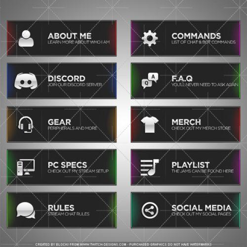 Chroma Panels Twitch English Template