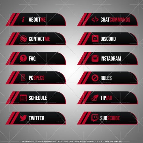 twitch panels red black dragon download english