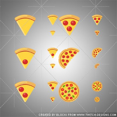 twitch sub badges pizza